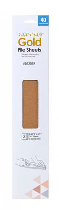 """Picture of 2.75"""" X 16.5"""" 40 GRIT FILE SHEETS PSA 3PK"""