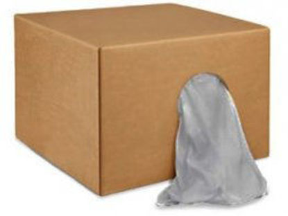Picture of 25LB BOX OF GRAY T-SHIRT RAGS