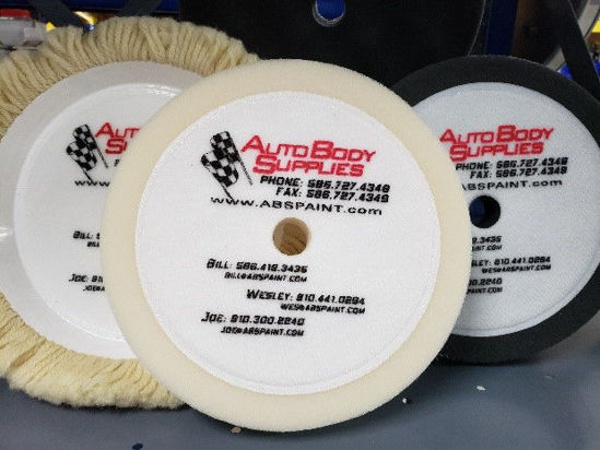 """Picture of WHITE 1.5"""" WOOL BUFFING PAD"""