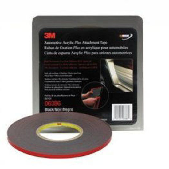 """Picture of 1/4"""" BLACK 2 WAY TAPE"""