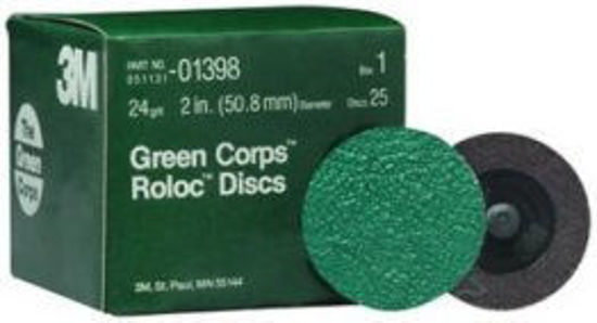 """Picture of 2"""" 24 GRIT GREEN ROLOC DISC"""