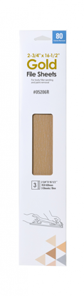 """Picture of 2.75"""" X 16.5' 80 GRIT FILE SHEETS 3PK"""