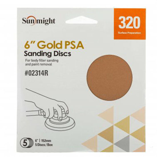 """Picture of 6"""" 320 GRIT PSA 5PK"""