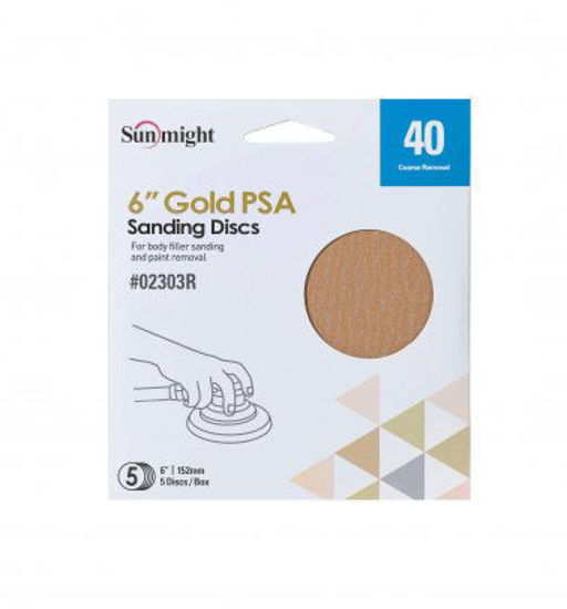 """Picture of 6"""" 40 GRIT PSA 3PK"""