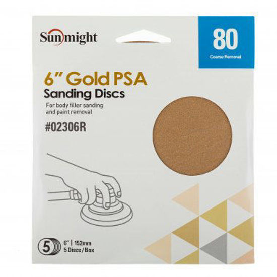 """Picture of 6"""" 80 GRIT PSA 5PK"""